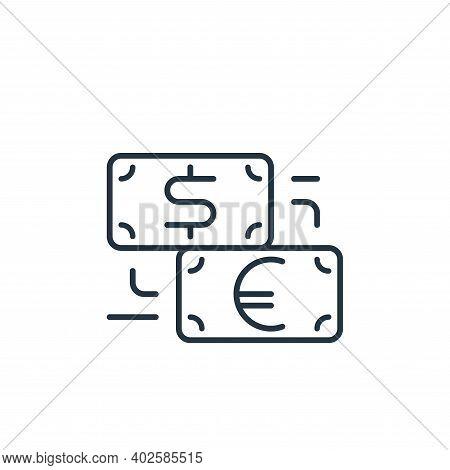 money exchange icon isolated on white background. money exchange icon thin line outline linear money