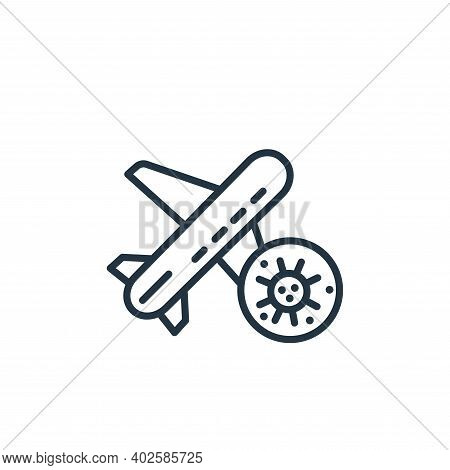 plane icon isolated on white background. plane icon thin line outline linear plane symbol for logo,