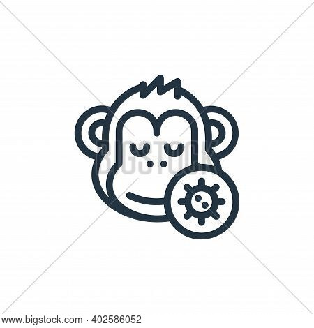 monkey icon isolated on white background. monkey icon thin line outline linear monkey symbol for log