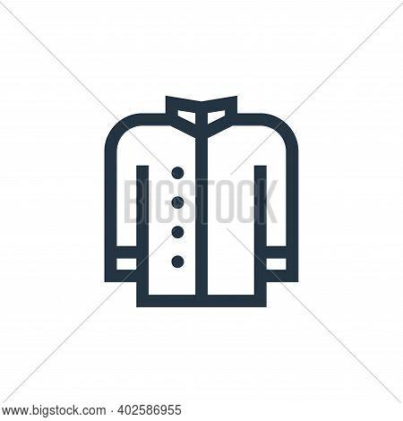 coat icon isolated on white background. coat icon thin line outline linear coat symbol for logo, web