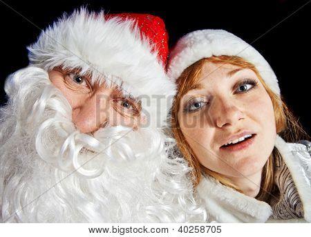 Santa Claus and Snow-maiden