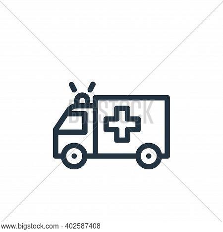 ambulance icon isolated on white background. ambulance icon thin line outline linear ambulance symbo