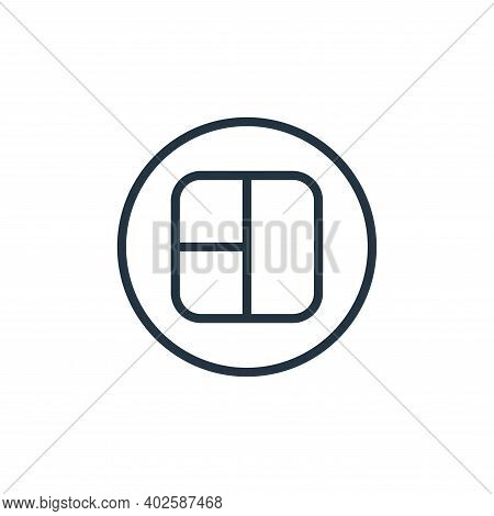 grid icon isolated on white background. grid icon thin line outline linear grid symbol for logo, web