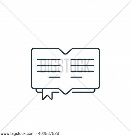 open book icon isolated on white background. open book icon thin line outline linear open book symbo