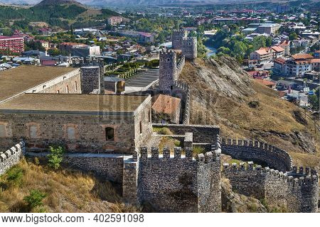 Rabati Castle Is A Medieval Castle Complex In Akhaltsikhe, Georgia. View From Above