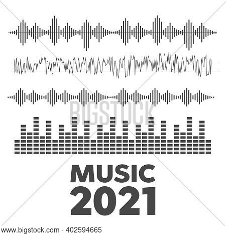 Sound Waves. Music Technology, Stereo Equalizer. Voice Wave Form