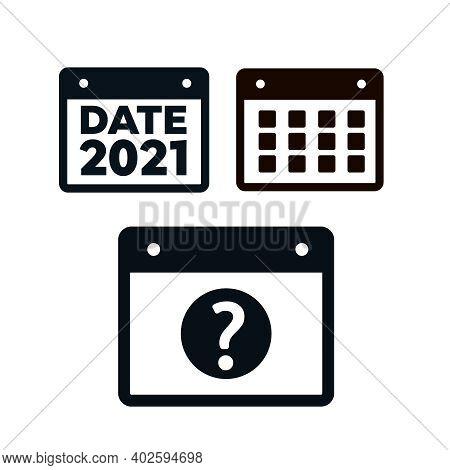 Vector Calendar Icons. Event Icon. Calendar Vector Sign. Plan Vector. Date Icons