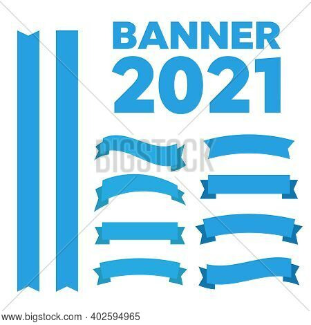 Retro Vector Banner Ribbons And Badges For Sale. Banner Ribbon Vector Set