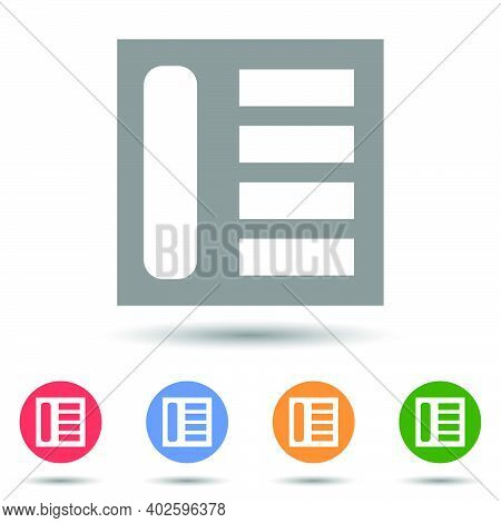 News, Article Feed Grid Vector Icon Illustrator Isolated On White Background