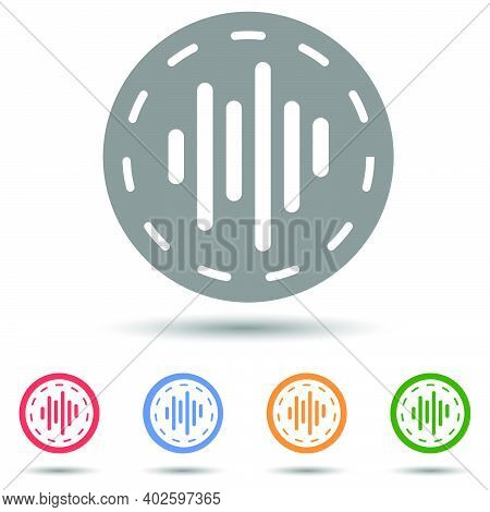 Waveform In Circle Vector,  Waves As Equalizer