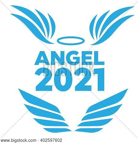 Airforce Logo Icons. Avia Vector Logo. Set Of Heraldic Wings Or Angel Wings Drawn
