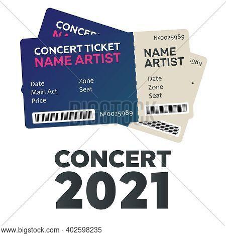 Blank Concert Performance Tickets. Music, Dance, Live Concert Tickets Templates