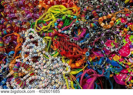 Lido Di Camaiore, Italy - September 7, 2011: Cheap Holiday Souvenirs Sold At A Street Market In Lido
