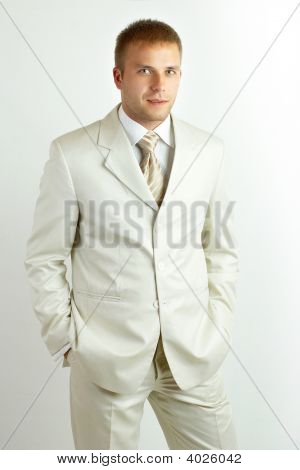 Portrait Of A Young Laughing Businessman, Non Isolated