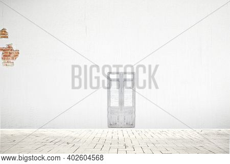 3d Rendering Wall Abstact Background And Space