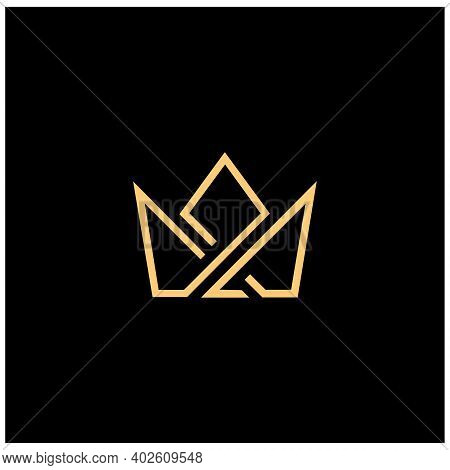 Crown Icon Vector. Crown Icon Isolated On Black Background. Crown Icon Trendy And Modern Crown Symbo