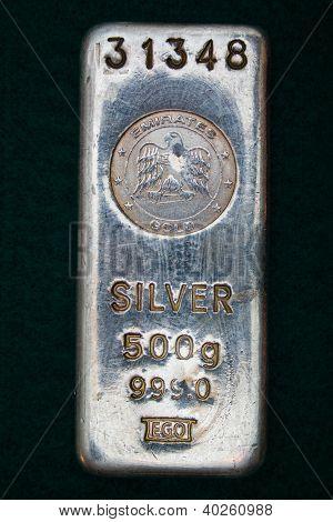 500 Gram Silver Bullion Bar - Ingot
