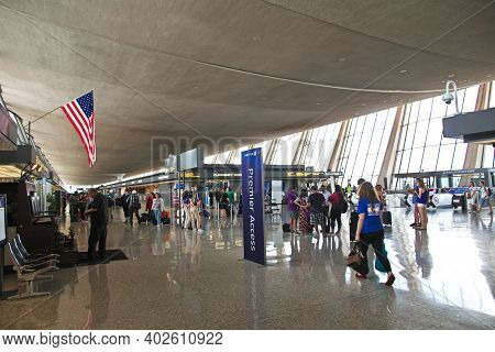Washington, United States - 04 Jul 2017: The Airport In Washington, Unites States