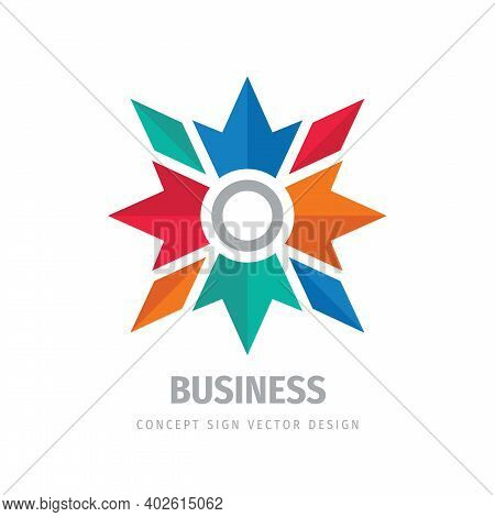 Star Travel Direction Concept Business Development Logo Design. Communication Sign. Business Investm