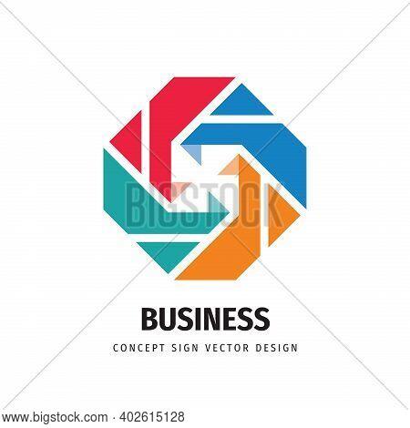 Social Media Concept Business Development Logo Design. Communication Sign. Business Investment Succe