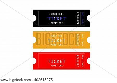 Vector Admission Ticket In A Flat Style