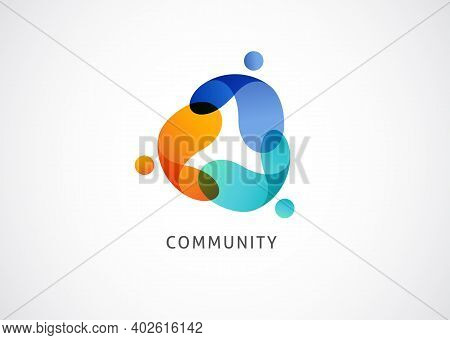 Abstract People Symbol, Togetherness And Community Concept Design, Creative Hub, Social Connection I