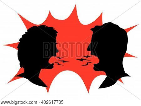 Man And Woman Shouting At Each Other
