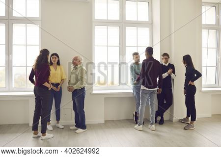 Diverse People Meeting, Getting To Know Each Other And Discussing Problems Together