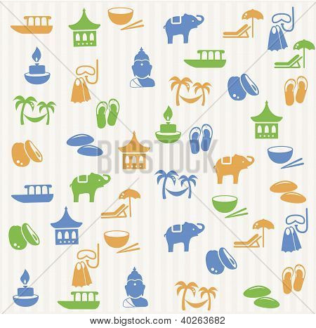 Thai seamless pattern