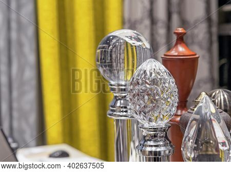 Crystal Knobs. Glass Round Knobs. Decorative Knobs For Stair Balusters.
