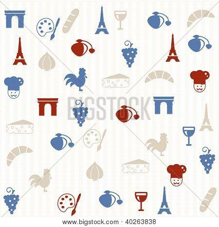 French seamless pattern