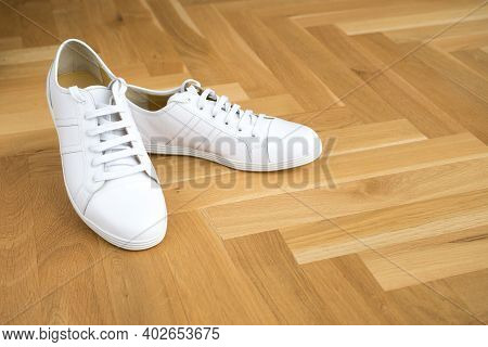 White Leather Sneakers