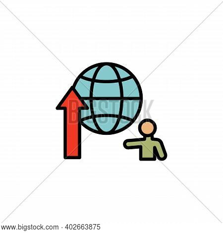 Global Migration Outline Icon. Element Of Migration Illustration Icon. Signs, Symbols Can Be Used Fo