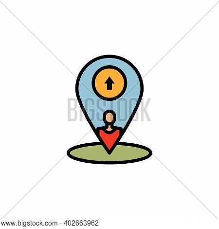 Family Settlement Migration Outline Icon. Element Of Migration Illustration Icon. Signs, Symbols Can