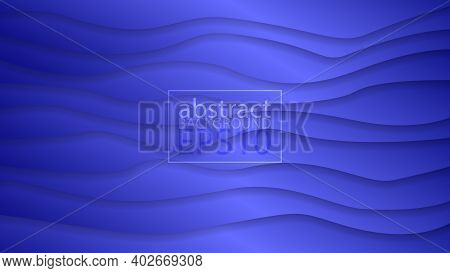 Eps10 Abstract Vector Background In Blue Color. Graphic Effect Based On Curving Lines And Shadows. A