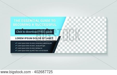 Business Blue Facebook Cover Design With Photo
