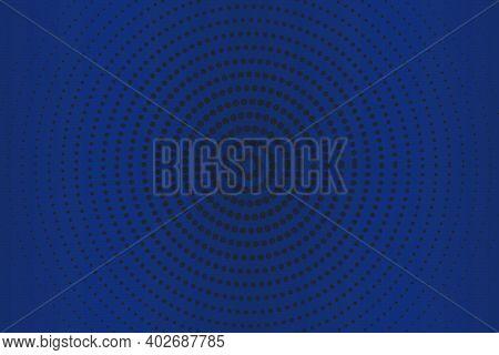 Dark Blue Dot Pattern Baclground. Circular Balck Dots Background.