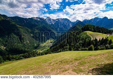 Outlook From Solcava To Logarska Dolina, Slovenia