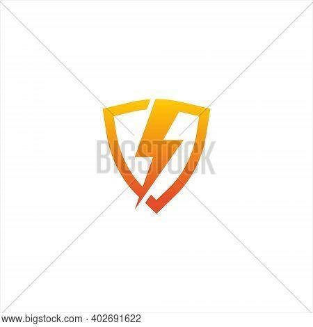 Creative Volt Logo Design Vector, Isolated On White Background