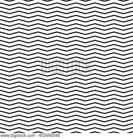 Seamless Pattern Wavy Line Vector Illustration, Horizontal Texture Wave Simple Background. Modern De