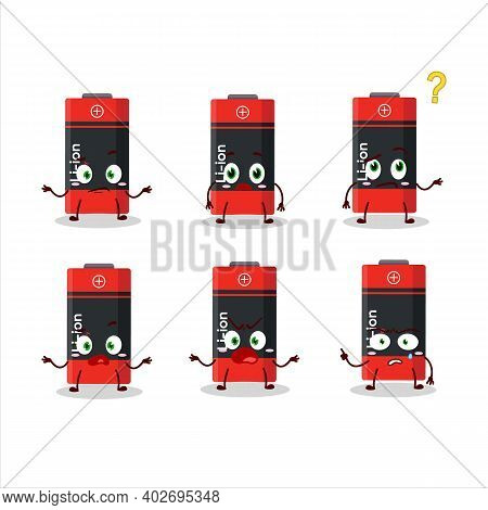 Cartoon Character Of Li Ion Battery With What Expression