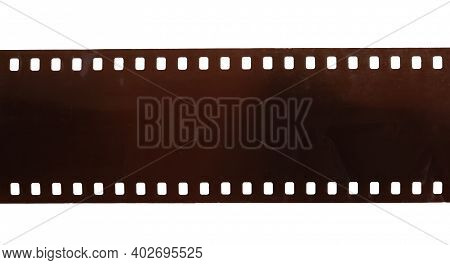 Dusty And Grungy 35mm Film Texture Material Or Surface. Dust Particle And Grain Texture Or Dirt Use