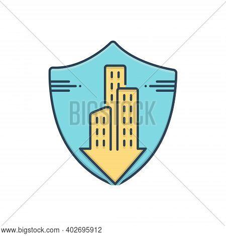 Color Illustration Icon For Condo-insurance Condo Insurance Accommodation Mortgage Condominium