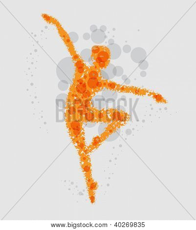 Dancing girl - abstract vector background