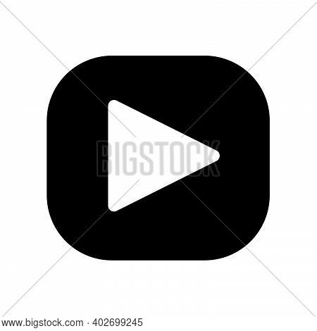 Back Video Player Icon Isolated On White Background From Education Collection. Black Video Plaer Ico