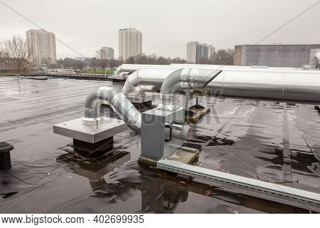 Ventilation Ventilation At A Gym In The Middle Of A Big City On A Rainy Day