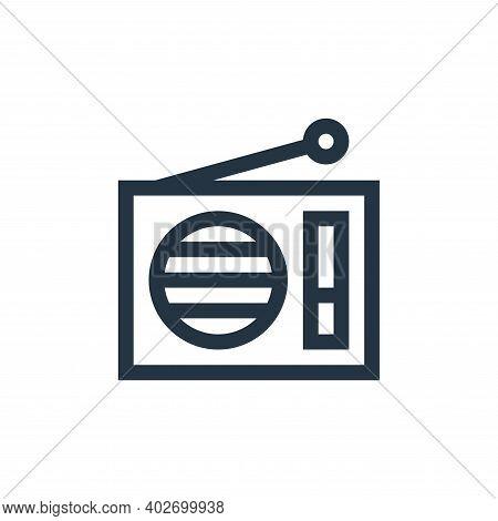 radio icon isolated on white background. radio icon thin line outline linear radio symbol for logo,