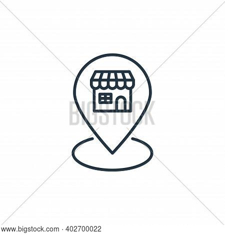 pin icon isolated on white background. pin icon thin line outline linear pin symbol for logo, web, a