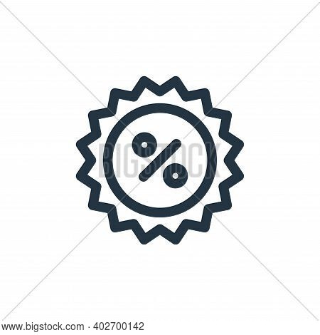 Discount Vector Icon Isolated On White Background.