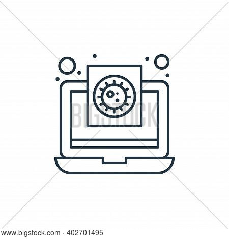 medical report icon isolated on white background. medical report icon thin line outline linear medic